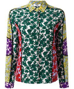 MSGM | Print Shirt 40 Silk