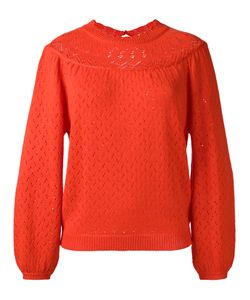 Manoush | Perforated Pullover Large Acrylic/Wool
