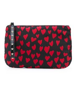 Red Valentino | Heart Print Zipped Clutch