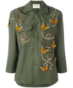 Night Market | Butterfly Embroide Jacket Medium Cotton/Polyester/Glass/Metal