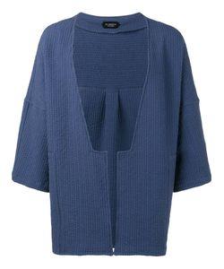 Curieux | Textured Stripe Kimono Jacket Xl