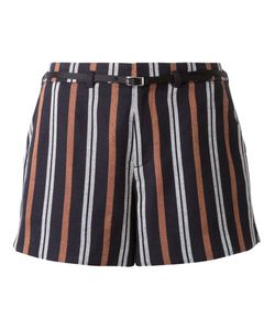 LOVELESS | Striped Belted Shorts