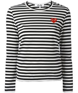 Comme des Gar ons Play | Comme Des Garçons Play Logo Stamp Striped Top