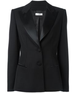 Lanvin | Peaked Lapel Fitted Blazer 38 Wool/Viscose/Acetate