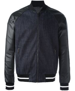 Emporio Armani | Contrast Zip Up Bomber Jacket Small