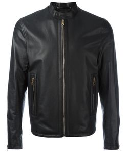 Paul Smith | Zip Up Jacket Large Leather/Polyester
