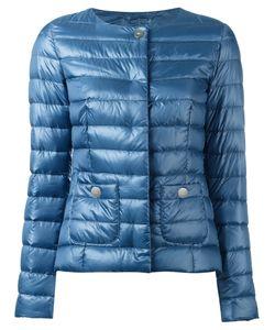 Herno | Collarless Down Jacket 40 Polyamide/Acetate/Feather Down