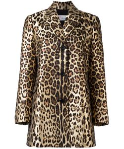 Red Valentino | Leopard Print Midi Coat 38 Cotton/Polyester/Polyamide/Acetate