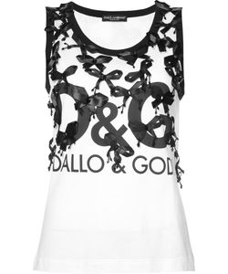 Dolce & Gabbana | Printed Top With Bow Details Size 40