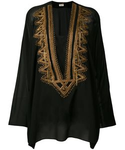 Saint Laurent | Embroidered Kaftan 40