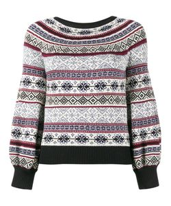 Alexander McQueen | Puffy Sleeve Printed Jumper Xs Cotton/Silk/Wool