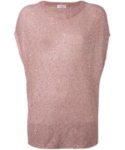 Brunello Cucinelli   Sequin Knitted Top Size Medium