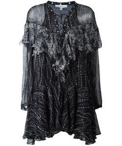 Iro | Lace-Up Neck Dress 36 Cotton/Viscose