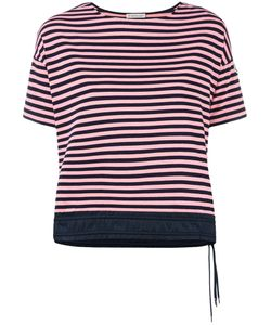Moncler | Drawstring Hem Striped T-Shirt Large Cotton/Spandex/Elastane/Polyamide