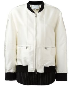 3.1 Phillip Lim | Contrast Hem Bomber Jacket Size 4