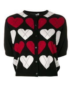 Love Moschino | Кардиган С Короткими Рукавами И Узором В Виде Сердец