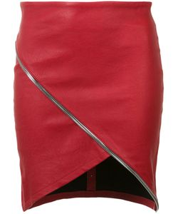 RTA | Asymmetric Zip Detail Skirt 2 Lamb Skin