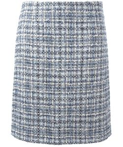 Lanvin | Tweed Checked Skirt 38 Cotton/Polyester/Acrylic/Wool