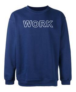 Andrea Crews   Work Print Sweatshirt Medium