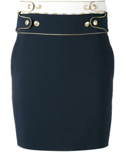 Pierre Balmain | Buttoned Waist Detail Skirt 38 Polyamide/Viscose/Spandex/Elastane/Polyester