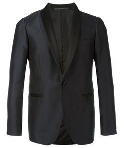 Pal Zileri | Embroide Tuxedo Blazer 46 Silk/Cupro