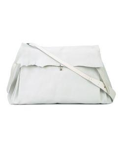 MA+   Fold-Over Closure Crossbody Bag Adult Unisex Leather
