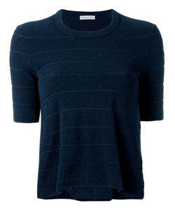 Moncler | Bi-Material Textured T-Shirt Size Large