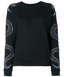Zoe Karssen | Serpent Embroide Sweatshirt Large Cotton/Polyester