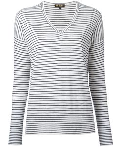 Loro Piana | Breton V-Neck Sweater Size Large