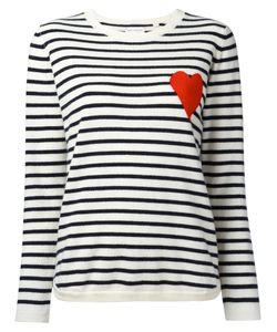 Chinti And Parker | Striped Heart Jumper Size Large
