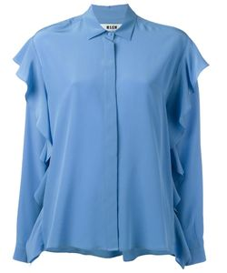 MSGM | Ruffle Detail Shirt 44 Silk