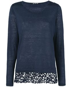 Luisa Cerano   Lace Detail Knitted Top
