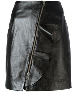 Iro | Straight Leather Skirt 34 Lamb Skin/Polyester