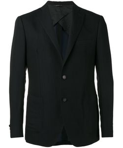 Tonello | Double Button Blazer 46 Virgin Wool/Linen/Flax