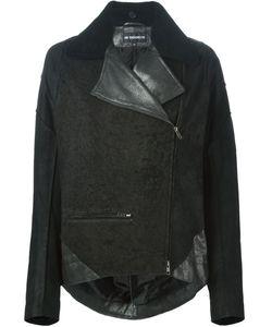 Ann Demeulemeester | Кожаная Куртка С Контрастными Панелями