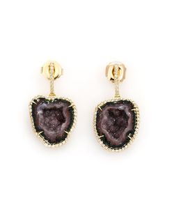 KIMBERLY MCDONALD | Geode And Diamond Earrings