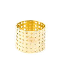 IVY & LIV | 14kt Plated Perforated Ring