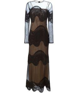 Emilio Pucci | Прозрачное Вечернее Платье С Вышивкой