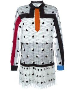 Marco De Vincenzo | Платье С Кружевным Слоем И Аппликацией Из Войлока