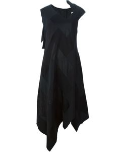 Maison Margiela   Платье Асимметричного Кроя В Стиле Пэчворк