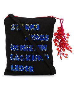 Bernhard Willhelm | Cranberry Motif Knit Shoulder Bag