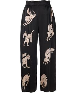 CLAIRE BARROW | Wide Leg Print Trousers