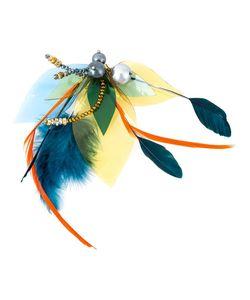 KATERINA PSOMA | Feathered Beaded Brooch