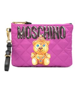 Moschino | Bear Print Clutch Nylon/Leather