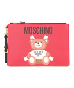 Moschino | Toy Bear Paper Cut Out Clutch Leather