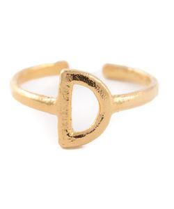 BJORG | D Alphabet Ring