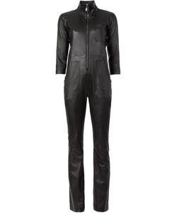 CAROLINARITZ | Leather Zipped Jumpsuit