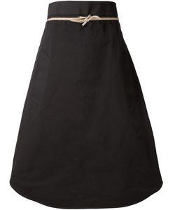 The Reracs   Tie Waist A-Line Skirt