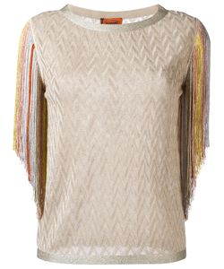 Missoni | Fringed Blouse 40 Rayon/Cupro/Polyester