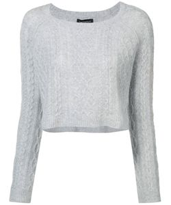 THE PERFEXT | Theperfext Cropped Cable Knit Sweater